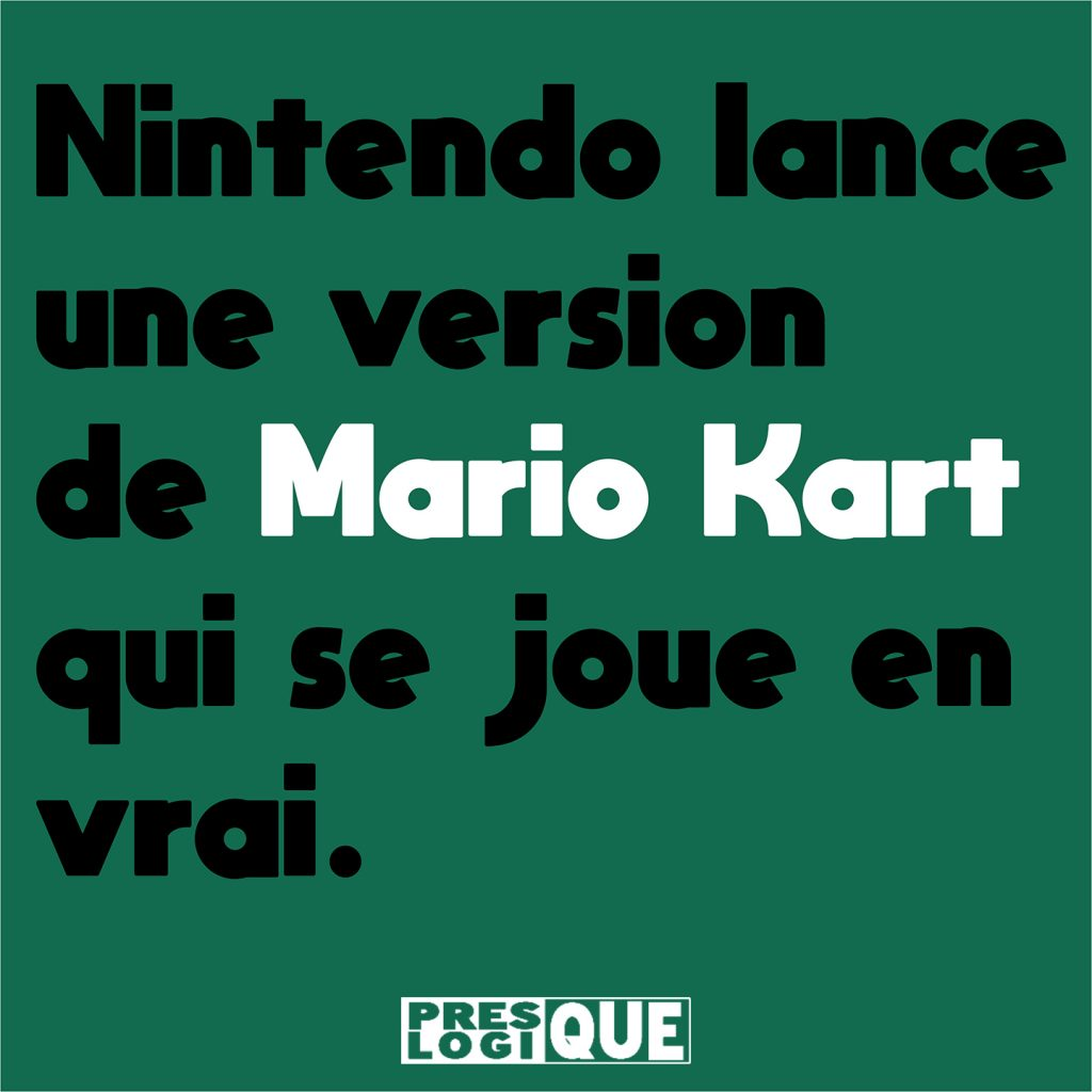 Nintendo lance une version de Mario Kart qui se joue en vrai.
