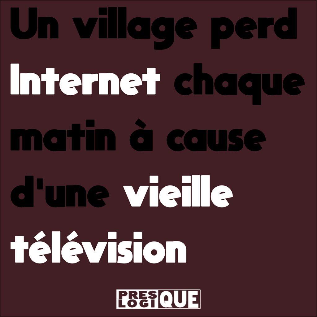 Un village perd Internet chaque matin à cause d'une vieille télévision